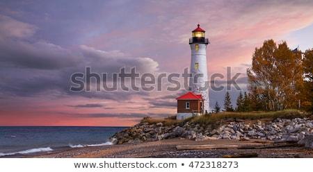 Rocha oceano nascer do sol praia água Foto stock © LAMeeks