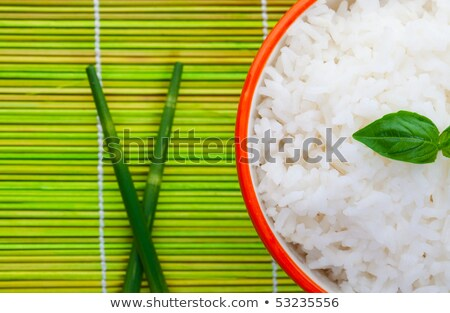 Delicately Garnished Rice Bowl Stock photo © songbird