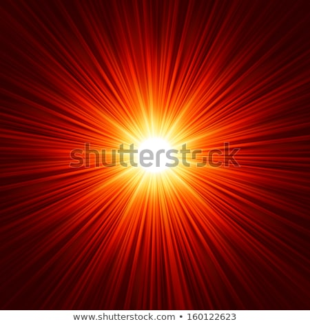 Star burst red and yellow fire. EPS 10 Stock photo © beholdereye