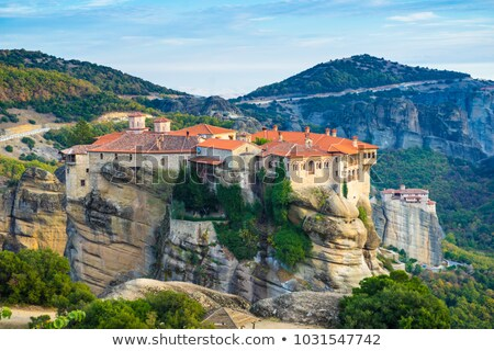 the holy monastery of varlaam in meteora stock photo © backyardproductions