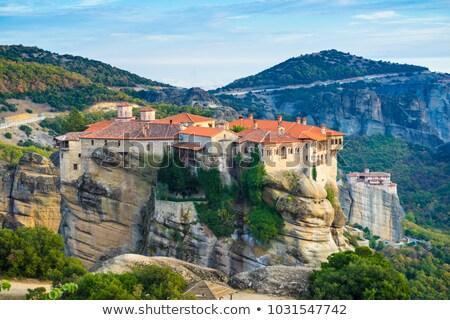 горные · монастырь · гор · Черногория · лес · природы - Сток-фото © backyardproductions