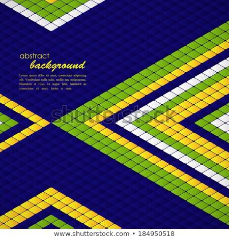 abstrato · geométrico · Brasil · bandeira · útil · cobrir - foto stock © place4design