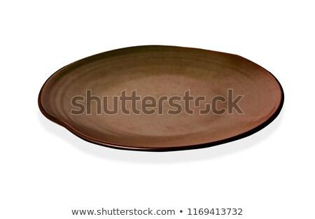 üres tányér japán étel izolált fehér étel Stock fotó © karandaev