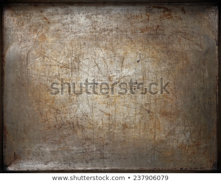 Old baking tray with scratches Stock photo © Zerbor