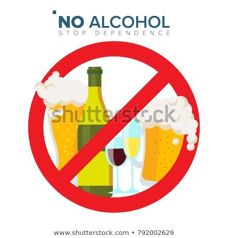 Grève alcoolisme verre vin bouteilles Photo stock © make