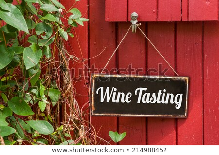 old metal sign with the inscription wine tasting stock photo © zerbor