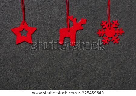Three christmassy felt figures Stock photo © Zerbor