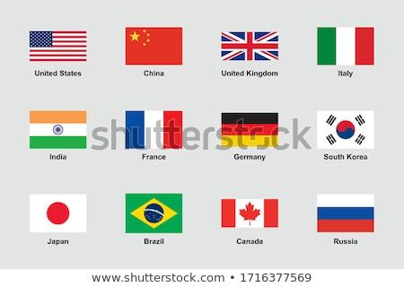 Zászló Oroszország piros fehér Európa mérleg Stock fotó © kiddaikiddee
