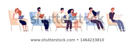 кресло изолированный белый ребенка мужчины Сток-фото © gemenacom