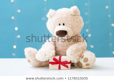 Teddybeer Rood hart geschenkdoos liefde speelgoed Stockfoto © kokimk