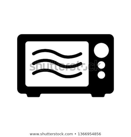 Foto stock: Flat Vector Icon For Microwave