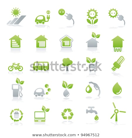 Plug Sign Green Vector Icon Button Stock photo © rizwanali3d