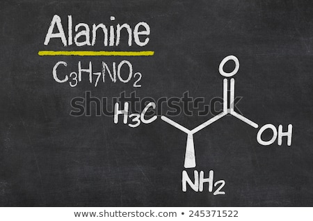 Blackboard with the chemical formula of Alanine Stock photo © Zerbor