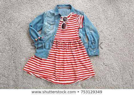 ребенка одежды красный длинный рукав белый Сток-фото © tangducminh