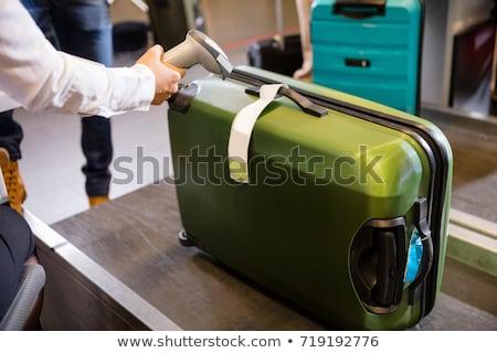 Bagaż ilustracja lotniska walizkę sprawdzić bilety Zdjęcia stock © adrenalina