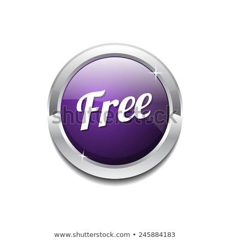 уик-энд предлагать Purple вектора икона кнопки Сток-фото © rizwanali3d