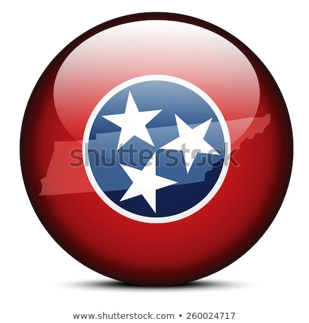 Map on flag button of USA Tennessee State Stock photo © Istanbul2009