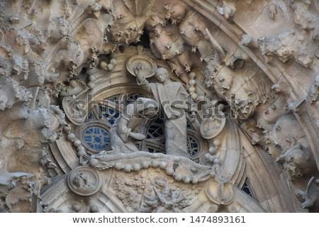 Festett üveg ablak família Barcelona katedrális üveg Stock fotó © matwatkins