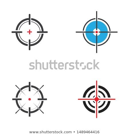 Cél szimbólum kék vektor gyakorlat repülés Stock fotó © blumer1979