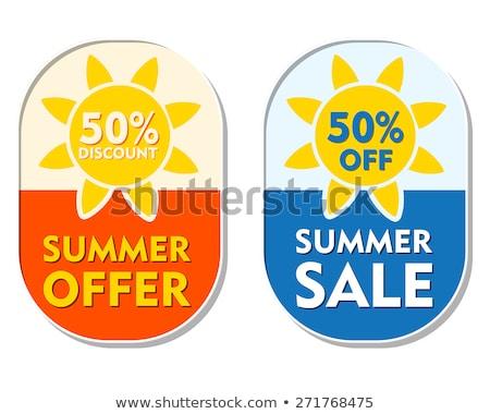 summer offer and sale 50 percent off discount, two elliptical la Stock photo © marinini