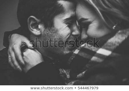 outdoor portrait of happy couple in love romantic black and wh stock photo © victoria_andreas