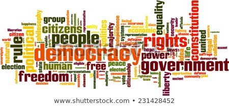 word cloud - voting system Stock photo © master_art