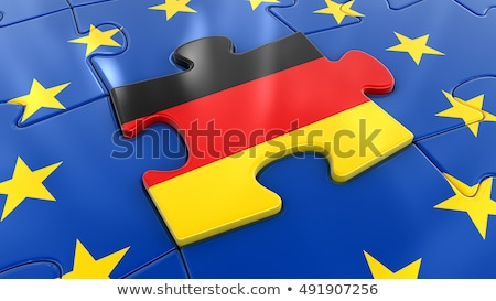 Allemagne européenne Union drapeaux puzzle vecteur Photo stock © Istanbul2009