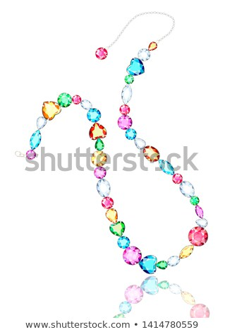 set of pink gems of different cuts and shapes Stock photo © yurkina