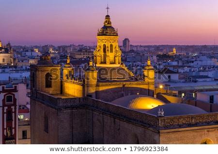 Altın kule modern Bina pencere gökdelen Stok fotoğraf © ivz