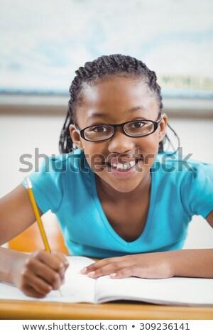 Cute pracy biurko biały szkoły szczęśliwy Zdjęcia stock © wavebreak_media