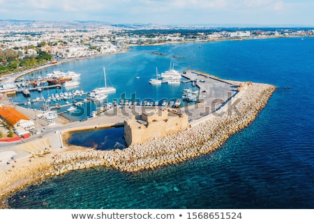 Famous touristic medieval castle. Paphos, Cyprus. Stock photo © Kirill_M