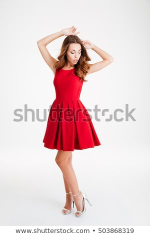 Elegant brunette woman posing. Stock photo © NeonShot