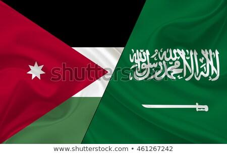 Szaúd-Arábia Jordánia zászlók puzzle izolált fehér Stock fotó © Istanbul2009