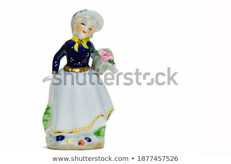 Mulher velho vestir cerâmico isolado branco Foto stock © GeniusKp