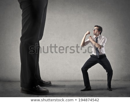 little business man fighting with boss stock photo © fuzzbones0