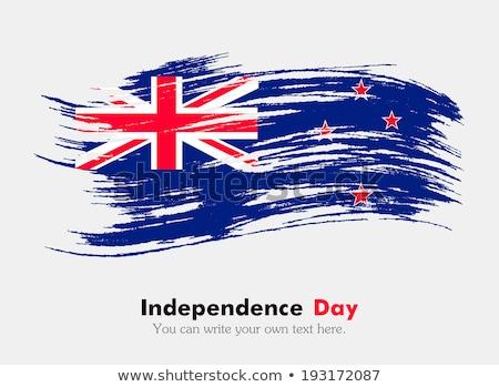 Zászló Új-Zéland festett ecset szilárd absztrakt Stock fotó © tang90246