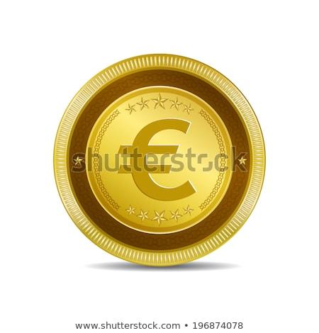 Euro valuta felirat körkörös vektor arany Stock fotó © rizwanali3d