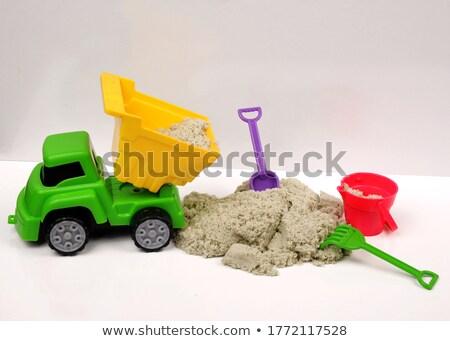 Sarı plastik kum yalıtılmış beyaz çocuklar Stok fotoğraf © GeniusKp