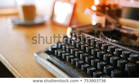 Antique typewriter keys of thai Stock photo © nalinratphi
