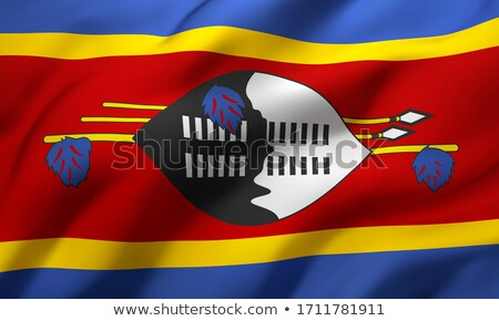 Swaziland Flag Stock photo © Bigalbaloo