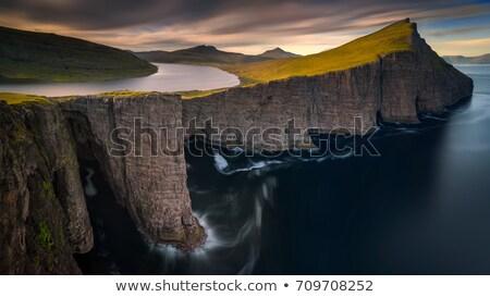 Ada somon çiftlik manzara Stok fotoğraf © Arrxxx