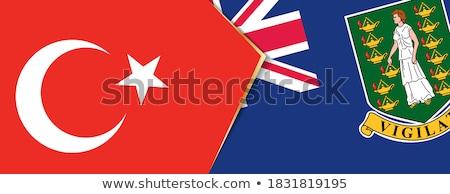 Turkey and Virgin Islands (British) Flags Stock photo © Istanbul2009
