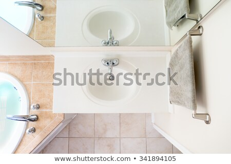 overhead view of classical acrylic top sink stock photo © ozgur