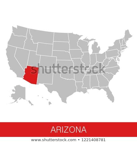 Arizona · USA · Karte · rot · Farbe · Reise - stock foto © unkreatives