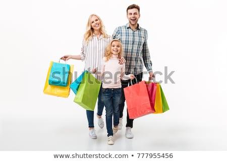 семьи · магазин · мешки · бумаги · улыбка · счастливым - Сток-фото © Paha_L