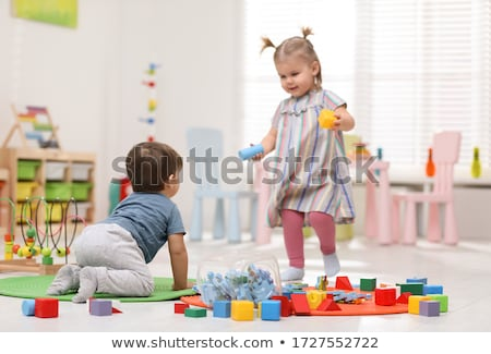 two children play in playroom stock photo © Paha_L