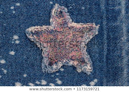 denim · bastante · morena · púrpura · blusa · shorts - foto stock © disorderly