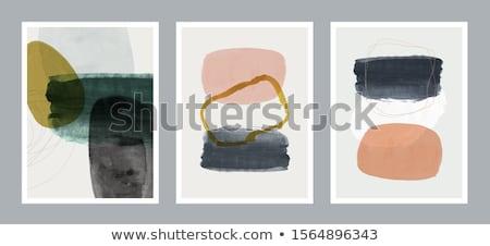 Zöld absztrakt művészet tinta fehér izolált Stock fotó © zdenkam