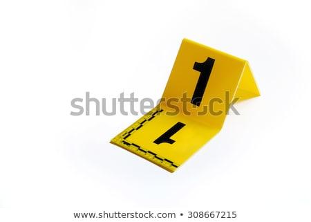 bűnügyi · helyszín · kréta · skicc · tipikus · bűnözés · osztályzat - stock fotó © aliencat