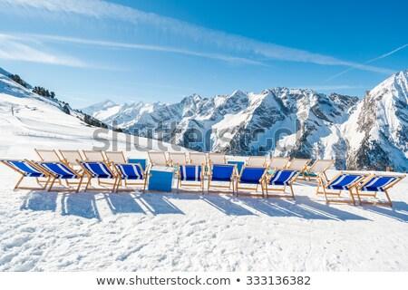 deck-chairs on the glacier Stock photo © Antonio-S